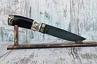 """Нож ручной работы """"Вожак"""" из дамасской стали"""
