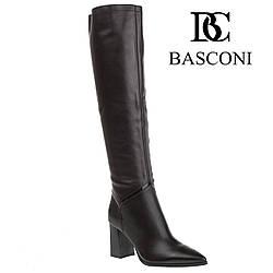 Сапоги женские Basconi (классический дизайн, острый носок, стильные, изысканные, элегантные)