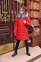 Пальто для девочки зимнее Кина