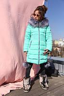 Теплое зимнее пальто для девочек