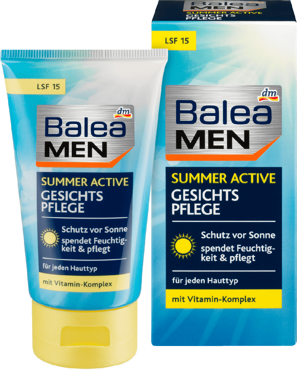 Летний активный уход за кожей лица Balea men Summer Active Gesichtspflege, 75 ml, фото 1