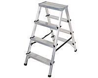 Двухсторонняя алюминиевая лестница Step Stool 2x4 ступени