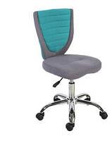 Комфортное кресло POPPY, серо-голубое