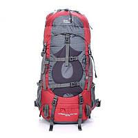 Туристический рюкзак  45 +5 литров New Outlander /для сноуборда, поездок, походов - 2148 /красный