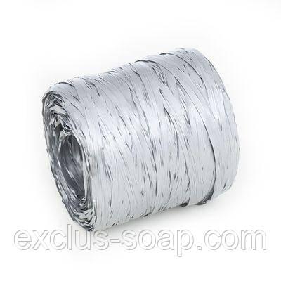 Рафия серебряная-1 метр