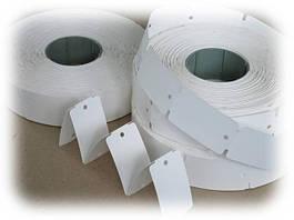 Ярлыки (бирки) картонные навесные в рулонах
