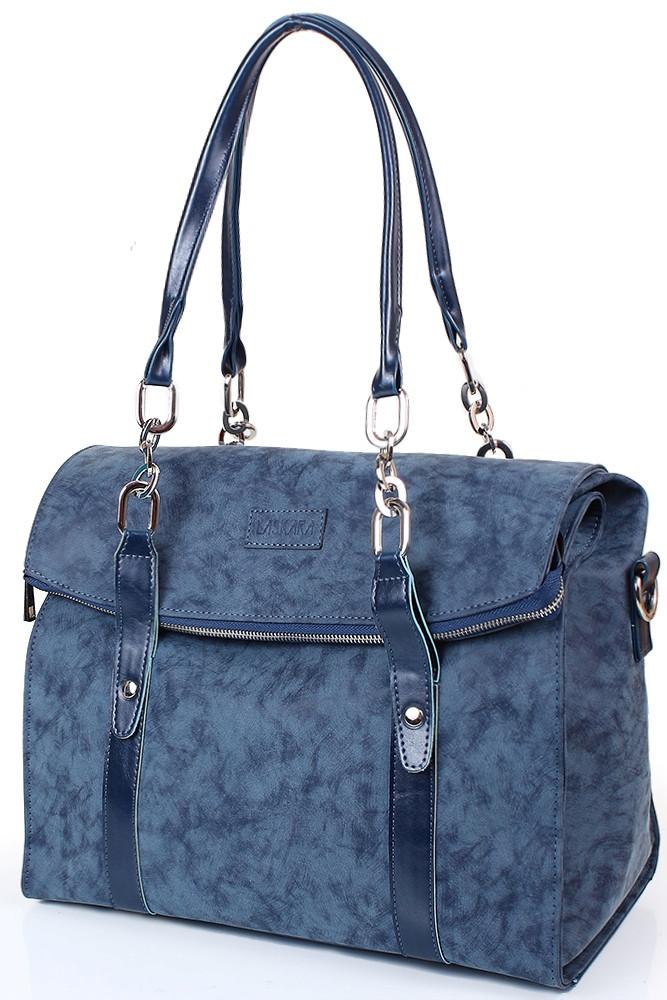 bfe4131187e0 Женская сумка LASKARA LK10191-blue-duo, повседневно-дорожная синяя ...