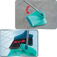 Набор щетка + совок-контейнер с ручкой LEIFHEIT / Набор для уборки полов
