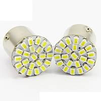 Led лампы 1156 BA15S 22SMD 1206 для задних габаритов, поворотников (Белый/Желтый/Красный)