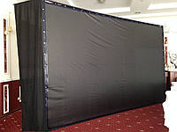 Экраны обратной проекции черного цвета на люверсах любого размера, фото 1