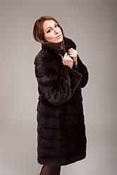 Шуба женская норковая (натуральная, стильная, коричневая, модная, изысканная)