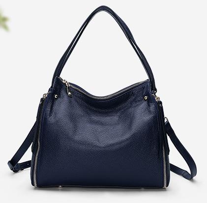 Кожаная сумка PASTE синяя