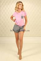 Женская пижама из хлопка. П-М-74 розовый