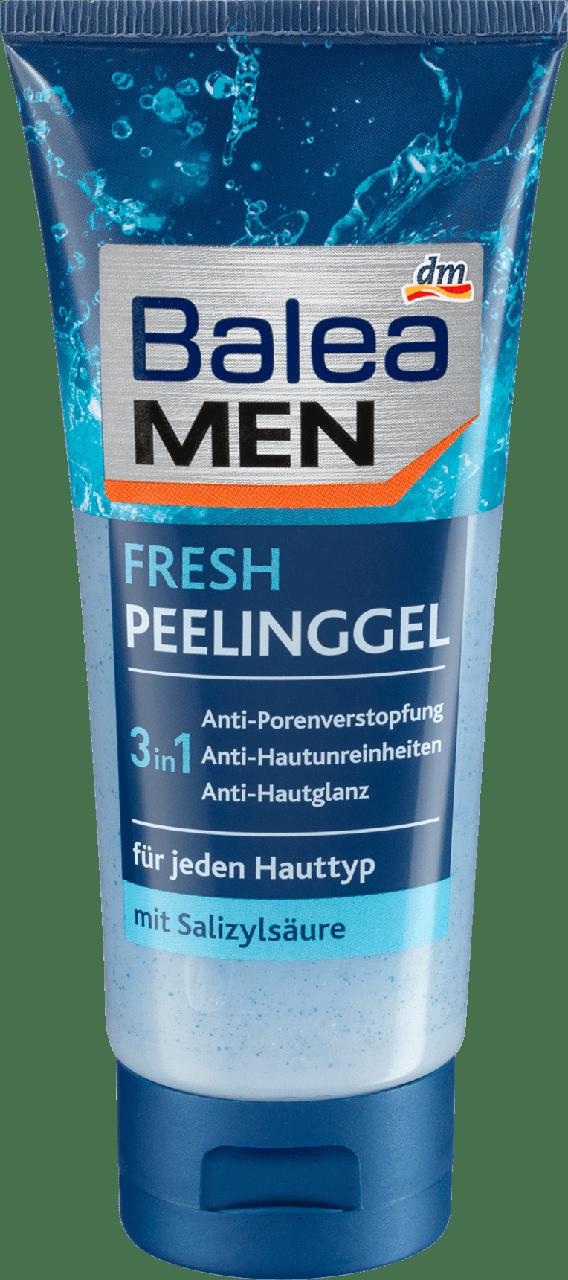 Пилинг + гель для лица Balea men Peelinggel Fresh, 100 мл.
