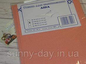 Канва Аіда 14, рожева