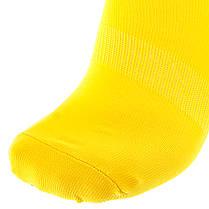 Футбольные гетры Europaw C-501 желтые подростковые, фото 3