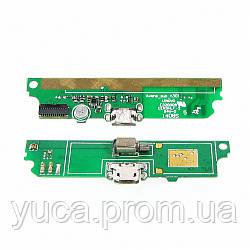 Разъём зарядки для LENOVO A516 на плате с микрофоном и компонетами