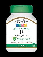Витамины и Минералы 21st Century Vitamin E (180mg 110 caps)