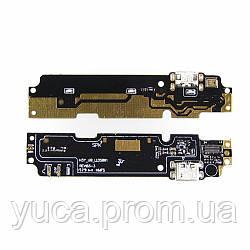 Разъём зарядки для XIAOMI Redmi Note 2 на плате с микрофоном и компонентами