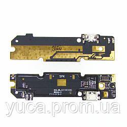 Разъём зарядки для XIAOMI Redmi Note 3 на плате с микрофоном и компонентами