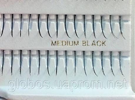 """Накладные ресницы 9мм одиночные пучки """"GLOBOS""""  P-M , фото 2"""