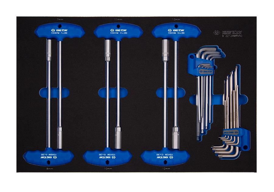 Набор инструмента 24 предмета HEX в EVA KINGTONY