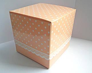 Подарункова упаковка для чашки з принтом (беж)
