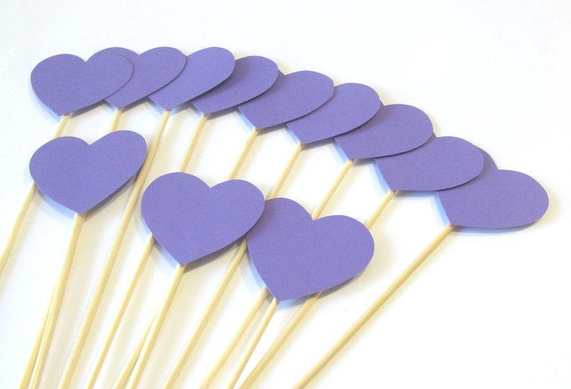 Фотобутафория Bonita Сердечки сиреневые 12 предметов