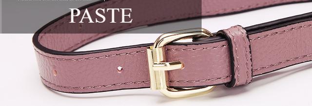 Женская сумка PASTE из натуральной кожи в деталях