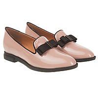 4e0c2170fd06 Туфли лоферы женские Deenoor (лаковые, роскошного оттенка розовой пудры, с  элегантным бантом)