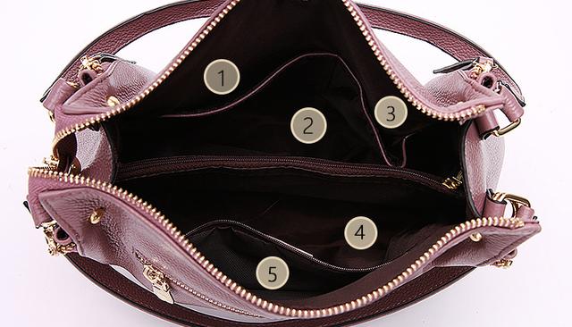 Женская сумка PASTE из натуральной кожи вид сверху