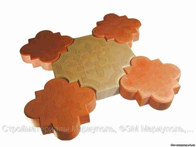 Литая тротуарная плитка Мариуполь, Лилия, литая тротуарная плитка, купить