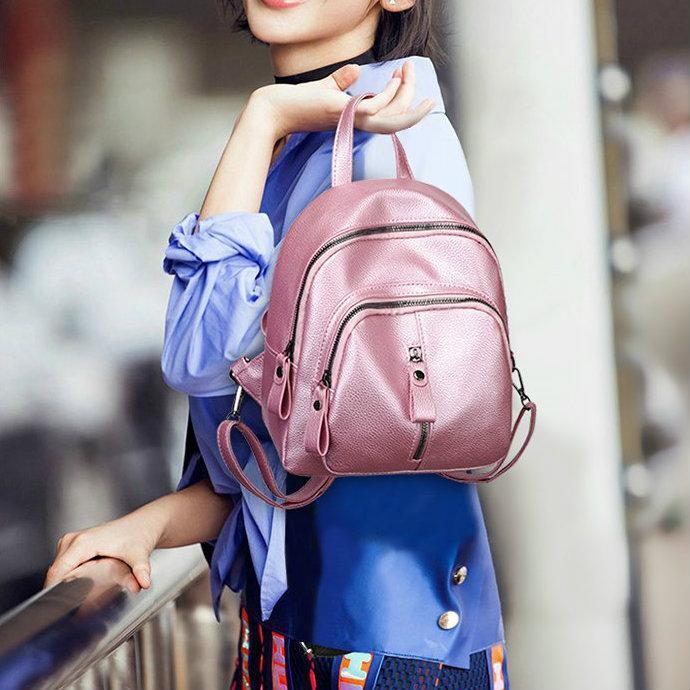 Маленький жіночий рюкзак з шкірозамінника