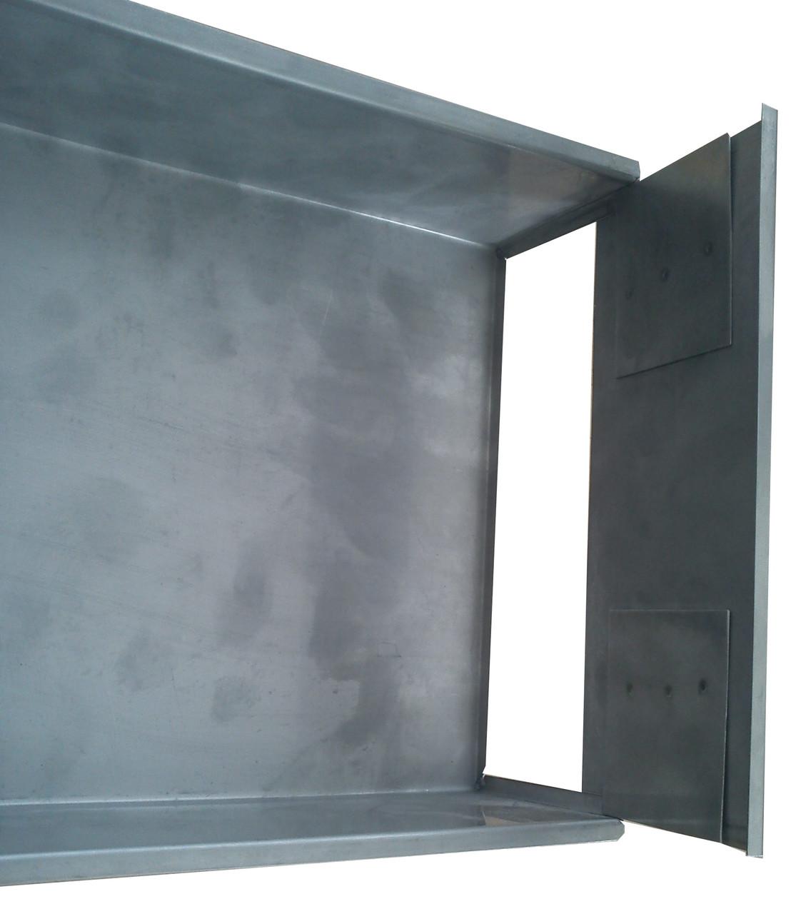 Деко зварної для наливних тортів 525х325х80 (нерж сталь) зі знімною задньою кришкою