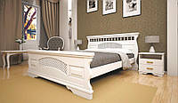 Кровать двоспальная с натурального дерева в спальню ТИС АТЛАНТ 23 160*190 сосна