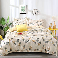 Комплект постельного белья с ананасами (двуспальный-евро)