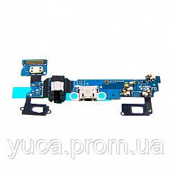 Шлейф для SAMSUNG A700FD Galaxy A7, с разъёмами micro-USB, гарнитуры, микрофоном и подсветкой