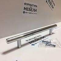 Ручка рейлинг (монолит) 192мм Хром, фото 1