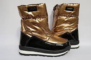 Зимові чобітки, дутики Tom.m,для дівчаток,золоті 27,28