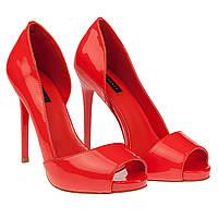 07c1ee4a5 Женские туфли Reuchll xf076-f133 (лаковые, на високом каблуке, откритий  носок,
