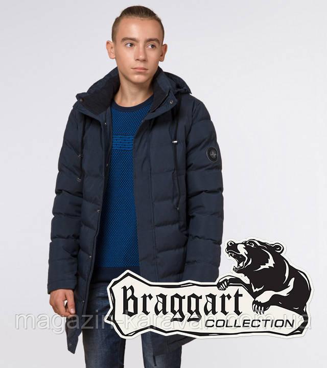"""Подросток 13-17 лет   Зимняя куртка Braggart """"Teenager"""" 25160 синяя"""
