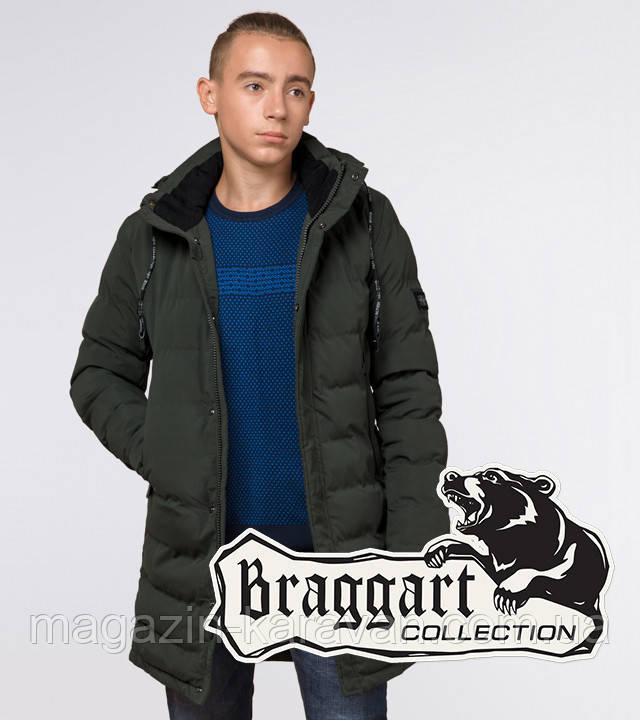 "Подросток 13-17 лет | Зимняя куртка Braggart ""Teenager"" 25200 темно-зеленая"