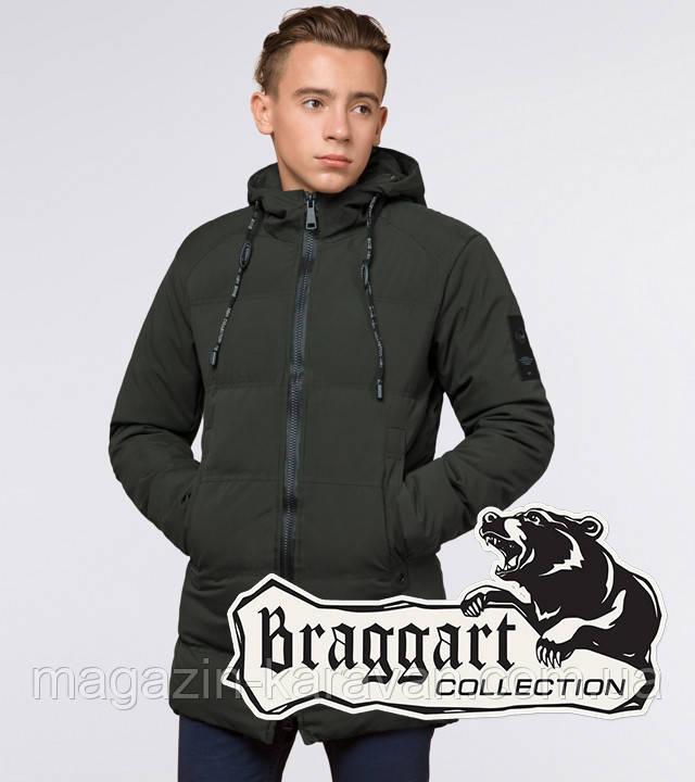 "Подросток 13-17 лет | Куртка зимняя Braggart ""Teenager"" 25400 темно-зеленая"