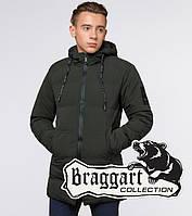 "Подросток 13-17 лет | Куртка зимняя Braggart ""Teenager"" 25400 темно-зеленая, фото 1"
