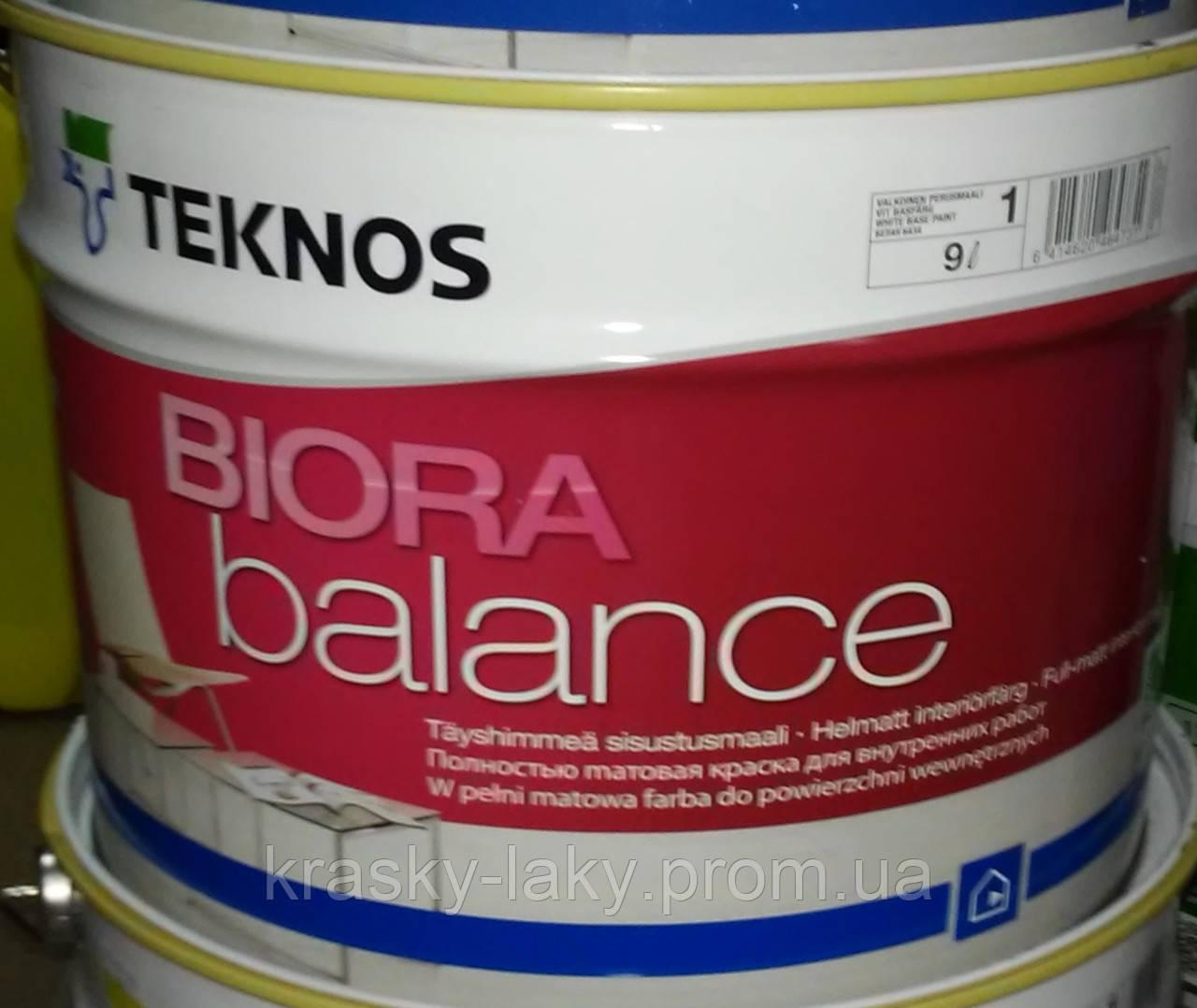Краска Biora Balance Teknos Биора Баланс стойкая матовая, 0.9л.