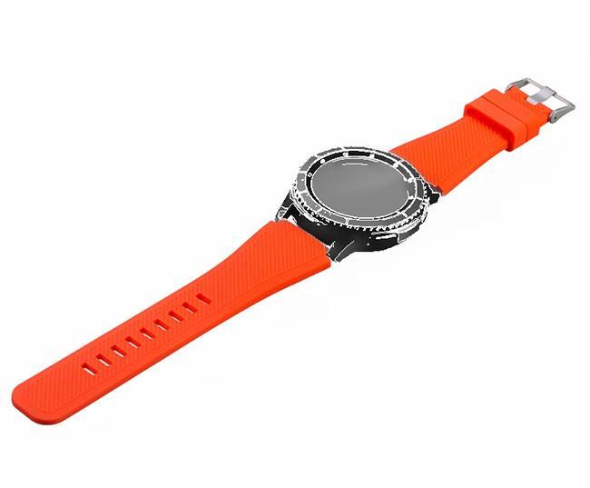 Силиконовый ремешок для часов Samsung Galaxy Watch 46 mm SM-R800 - Orange