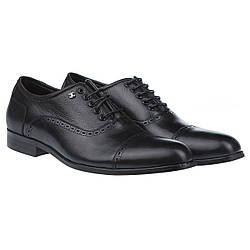 Классические мужские туфли - оксфорды от Cosottinni (стильные, кожаные, черного цвета)