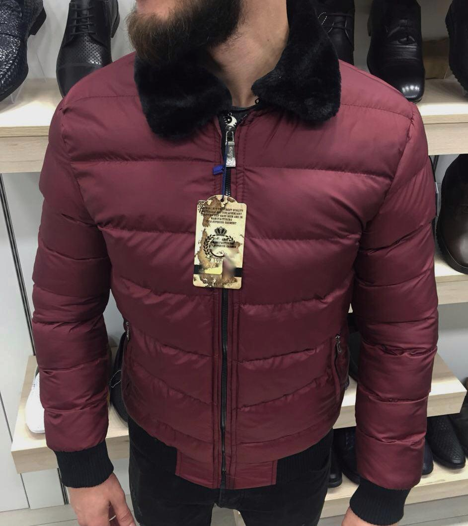 Куртка зимняя мужская вишневая