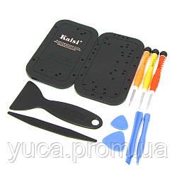 Набор инструментов KAISI 3689 для разборки IPhone 5 (3 отвёртки, 4 шпателька, 2 медиатора, подставка для винтов iPhone 5)