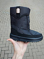 Зимние дутики черные с брошкой оптом Украина, фото 1